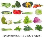 vegetable isolated on white... | Shutterstock . vector #1242717325