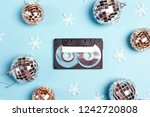audio cassette tape with winter ... | Shutterstock . vector #1242720808
