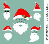 new year s collection of... | Shutterstock . vector #1242721318