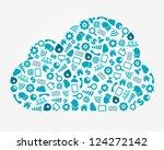 cloud computing service concept | Shutterstock .eps vector #124272142