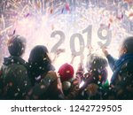 new year holiday. parents and... | Shutterstock . vector #1242729505