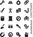 solid black vector icon set  ... | Shutterstock .eps vector #1242731605