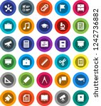 white solid icon set  book... | Shutterstock .eps vector #1242736882