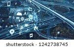 expressway junction and... | Shutterstock . vector #1242738745