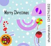 christmas card  christmas candy ... | Shutterstock .eps vector #1242741832