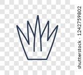spear shaped icon. trendy... | Shutterstock .eps vector #1242759802