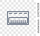 music keyboard icon. trendy... | Shutterstock .eps vector #1242762328