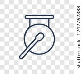 gong icon. trendy linear gong...   Shutterstock .eps vector #1242762388