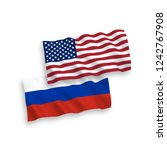 vector russian and american... | Shutterstock .eps vector #1242767908