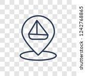 sailboat icon icon. trendy... | Shutterstock .eps vector #1242768865