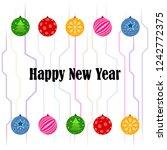 christmas balls  new year... | Shutterstock .eps vector #1242772375