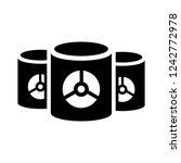 waste uranium icon | Shutterstock .eps vector #1242772978