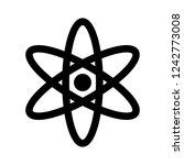 vector nucleus icon | Shutterstock .eps vector #1242773008