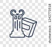 roman law icon. trendy linear...   Shutterstock .eps vector #1242773518