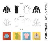 a mans jacket  a tunic  a t... | Shutterstock . vector #1242775948