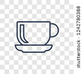 saucer icon. trendy linear... | Shutterstock .eps vector #1242780388