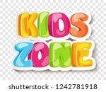 kids zone game banner design... | Shutterstock .eps vector #1242781918