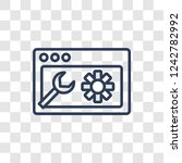 network optimization icon.... | Shutterstock .eps vector #1242782992