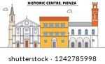 historic centre. pienza  line...   Shutterstock .eps vector #1242785998