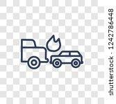 side crash icon. trendy linear... | Shutterstock .eps vector #1242786448