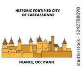 france  occitanie   historic... | Shutterstock .eps vector #1242788098