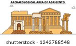 archaeological area of... | Shutterstock .eps vector #1242788548