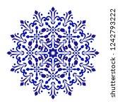 Round Floral Pattern  Circular...
