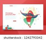design winter holidays landing... | Shutterstock .eps vector #1242793342