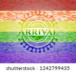 arrival on mosaic background... | Shutterstock .eps vector #1242799435