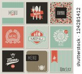 restaurant menu designs. retro... | Shutterstock .eps vector #124281412