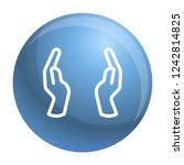 hands keep icon. outline hands... | Shutterstock .eps vector #1242814825