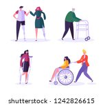 disabled people characters.... | Shutterstock .eps vector #1242826615