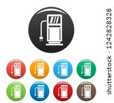 electric recharge station icons ...   Shutterstock .eps vector #1242828328