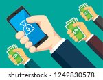 mobile banking illustration | Shutterstock .eps vector #1242830578