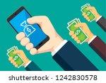 mobile banking illustration | Shutterstock .eps vector #1242830578