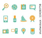 communication and social media... | Shutterstock .eps vector #124283758
