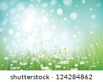 vector of spring background | Shutterstock .eps vector #124284862