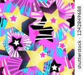 star shapes graffiti seamless... | Shutterstock .eps vector #1242849688