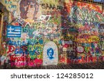 Постер, плакат: John Lennon wall in
