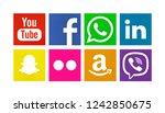 valencia  spain   august 01 ...   Shutterstock . vector #1242850675