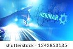 webinar  online training ...   Shutterstock . vector #1242853135