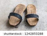 a pair of clogs for turkish... | Shutterstock . vector #1242853288