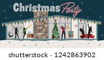 christmas party illustration... | Shutterstock .eps vector #1242863902