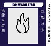 fire icon vector   Shutterstock .eps vector #1242864592