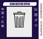 trash icon vector   Shutterstock .eps vector #1242864652