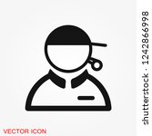 coach icon  banner coaching... | Shutterstock .eps vector #1242866998