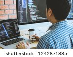 developer programming and... | Shutterstock . vector #1242871885