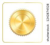 seal award gold icon. blank... | Shutterstock . vector #1242874528