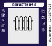 fence icon vector   Shutterstock .eps vector #1242874825