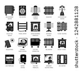 vector flat icon set with... | Shutterstock .eps vector #1242881128